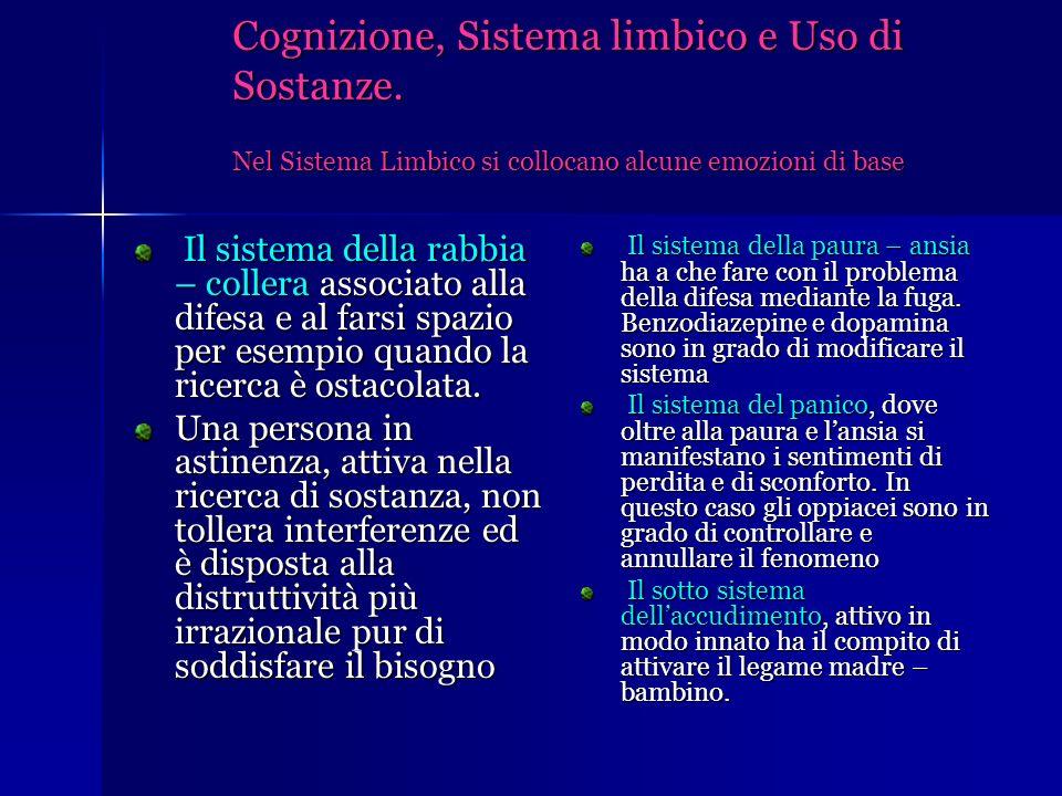 Cognizione, Sistema limbico e Uso di Sostanze