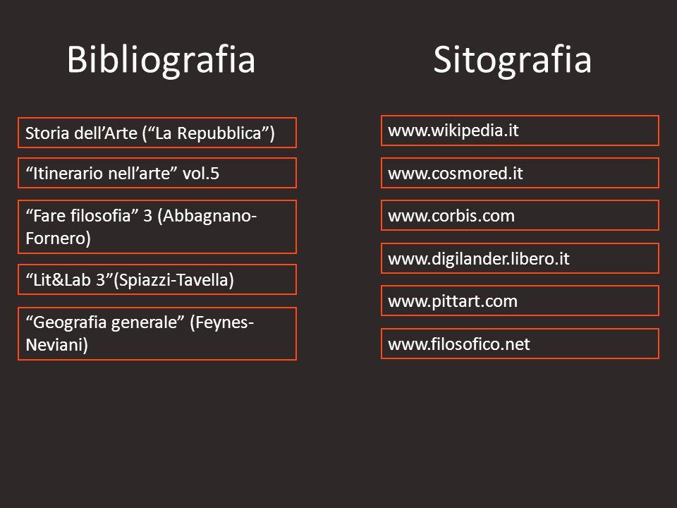 Bibliografia Sitografia Storia dell'Arte ( La Repubblica )