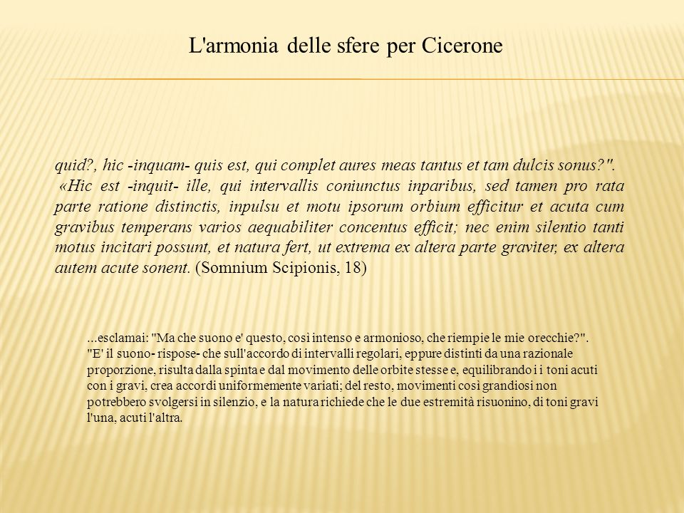 L armonia delle sfere per Cicerone