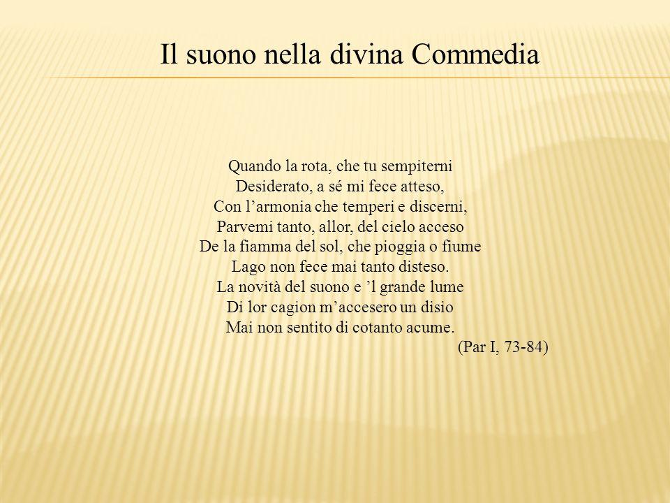 Il suono nella divina Commedia