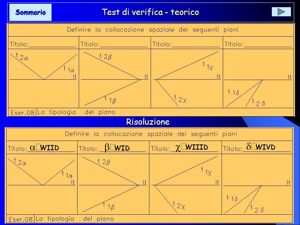 Test di verifica - teorico