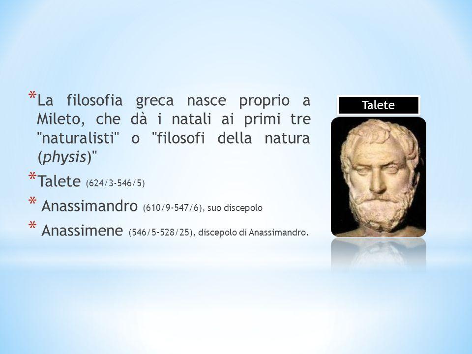 Anassimandro (610/9-547/6), suo discepolo