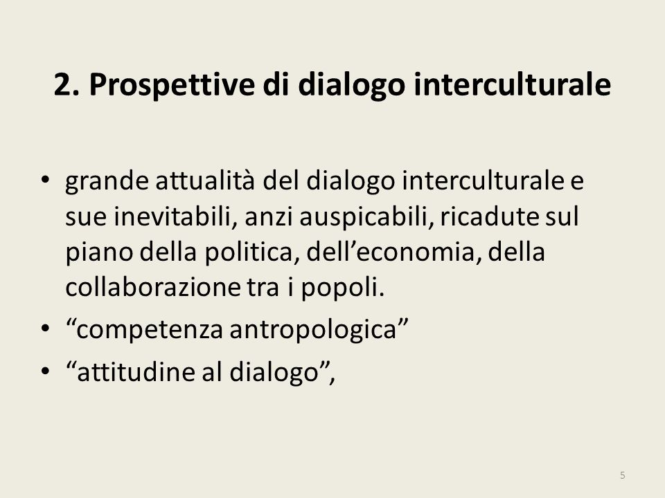 2. Prospettive di dialogo interculturale