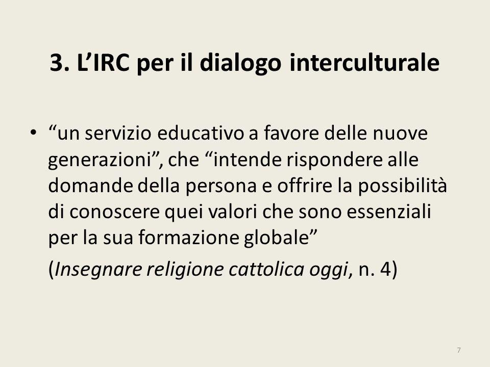 3. L'IRC per il dialogo interculturale