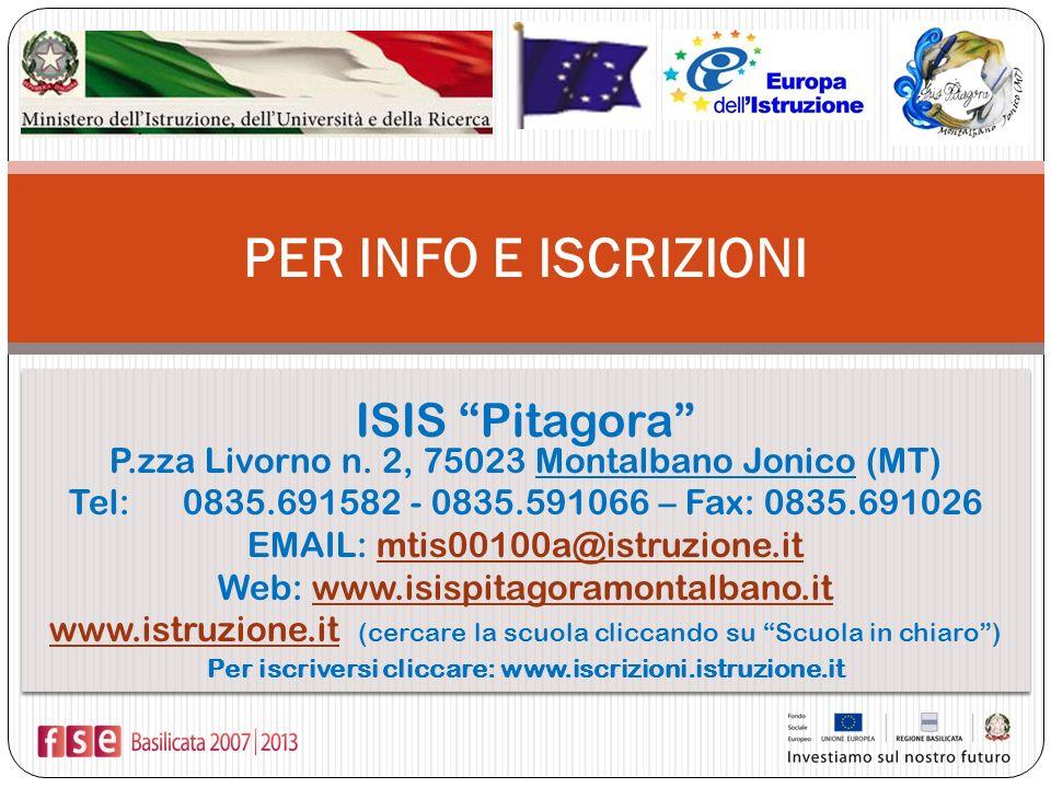 Per iscriversi cliccare: www.iscrizioni.istruzione.it