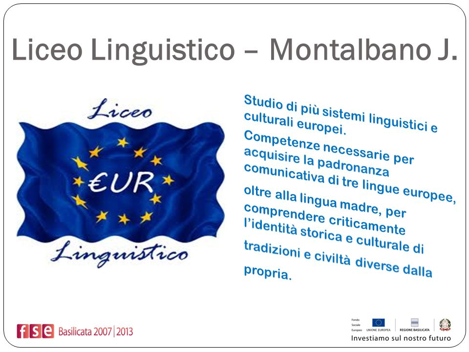Liceo Linguistico – Montalbano J.