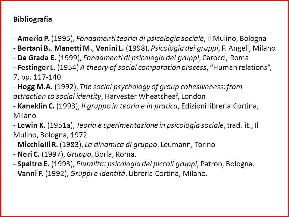 Bibliografia - Amerio P