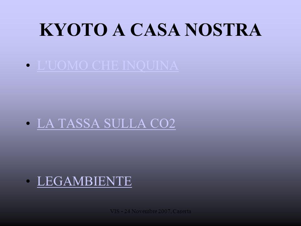 KYOTO A CASA NOSTRA L UOMO CHE INQUINA LA TASSA SULLA CO2 LEGAMBIENTE
