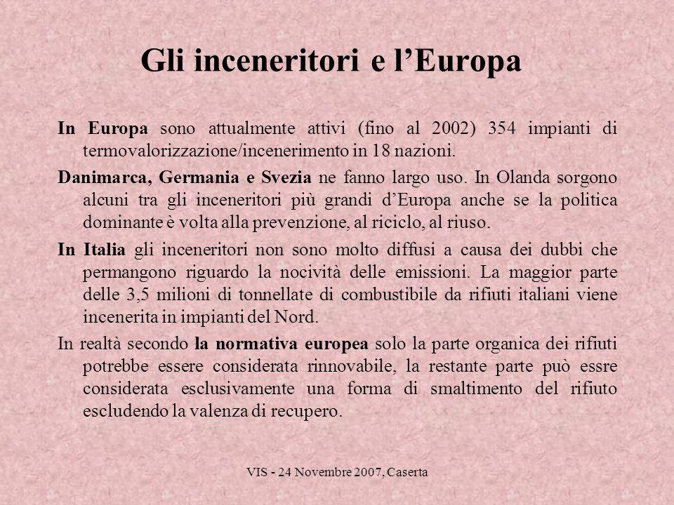 Gli inceneritori e l'Europa