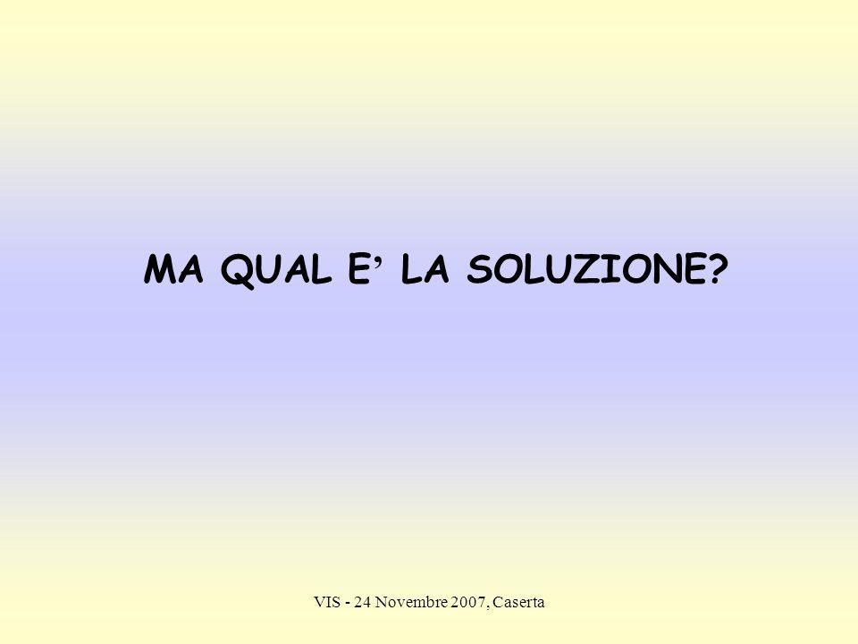MA QUAL E' LA SOLUZIONE VIS - 24 Novembre 2007, Caserta