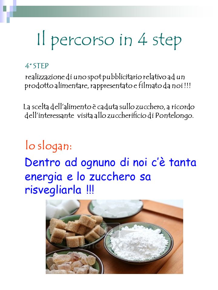 Il percorso in 4 step lo slogan: