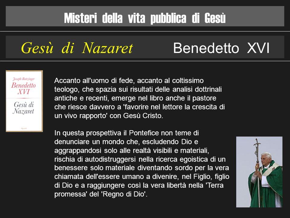 Gesù di Nazaret Benedetto XVI