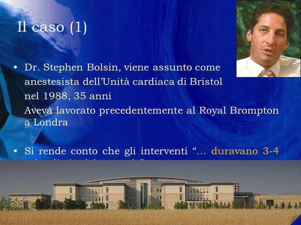 Il caso (1) Dr. Stephen Bolsin, viene assunto come