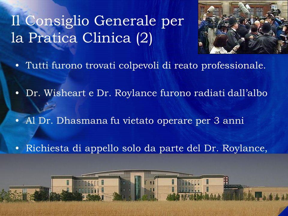 Il Consiglio Generale per la Pratica Clinica (2)