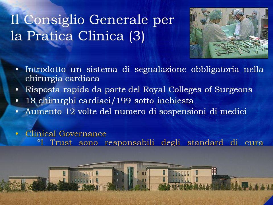Il Consiglio Generale per la Pratica Clinica (3)