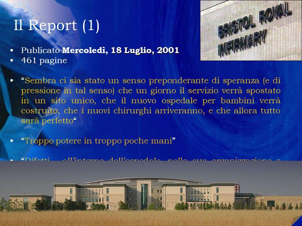 Il Report (1) Publicato Mercoledì, 18 Luglio, 2001 461 pagine