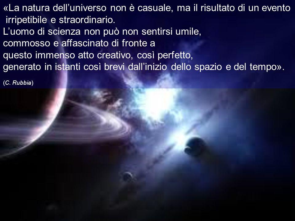 «La natura dell'universo non è casuale, ma il risultato di un evento