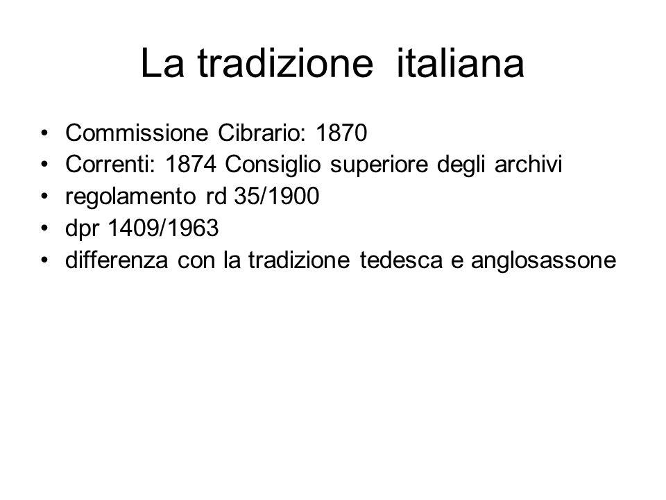 La tradizione italiana