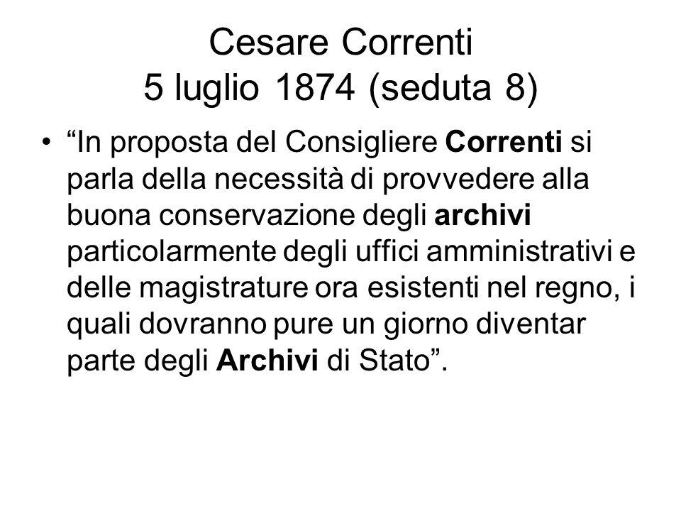 Cesare Correnti 5 luglio 1874 (seduta 8)