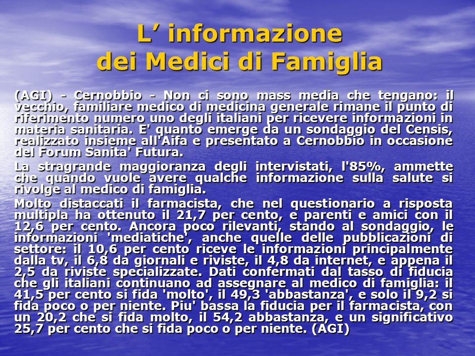 L' informazione dei Medici di Famiglia
