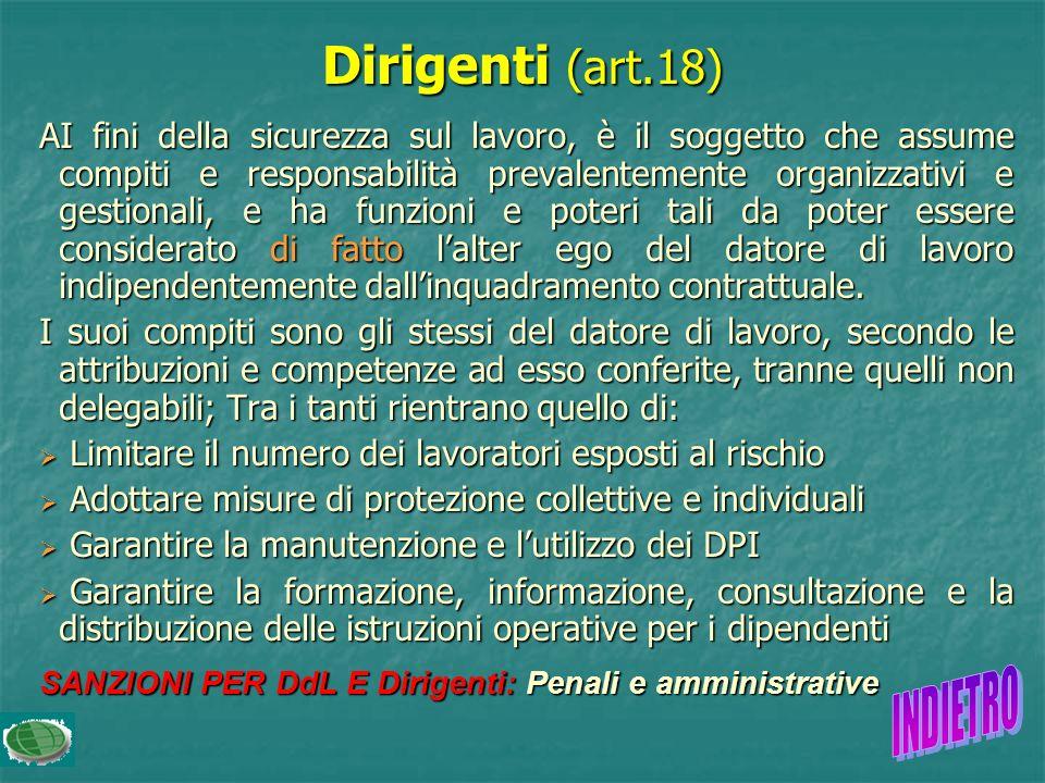 Dirigenti (art.18)