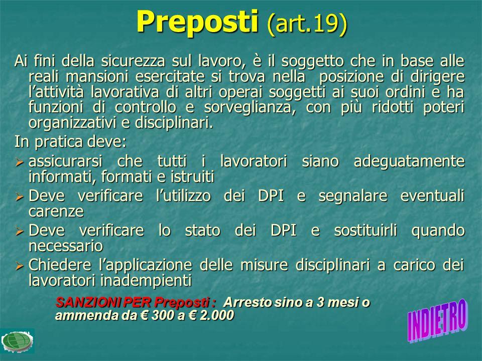 Preposti (art.19)