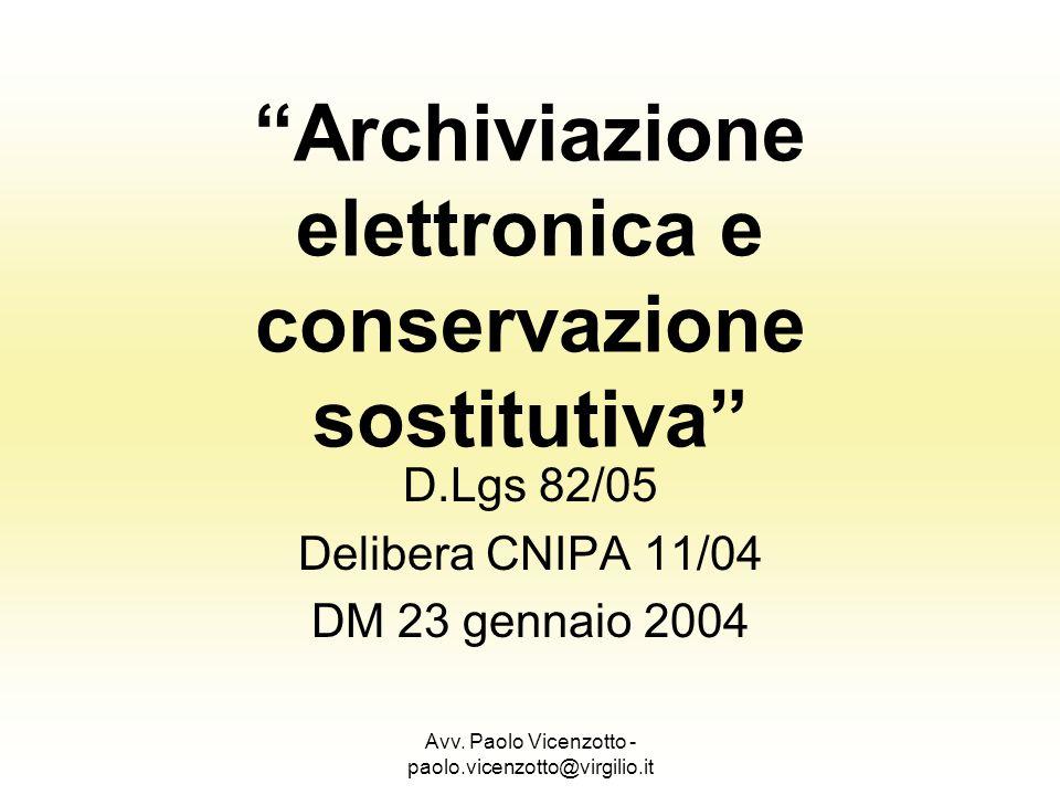 Archiviazione elettronica e conservazione sostitutiva