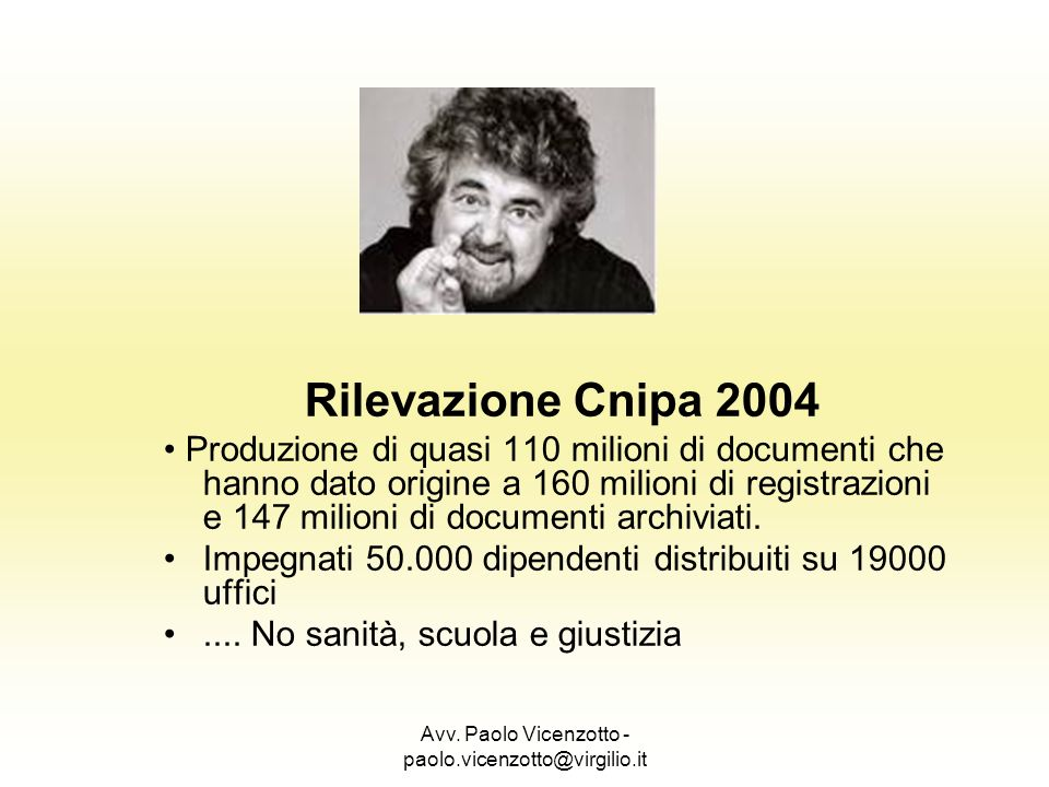 Avv. Paolo Vicenzotto - paolo.vicenzotto@virgilio.it