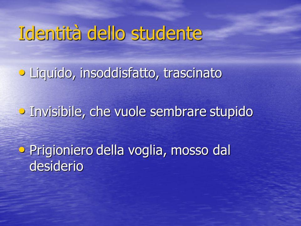 Identità dello studente