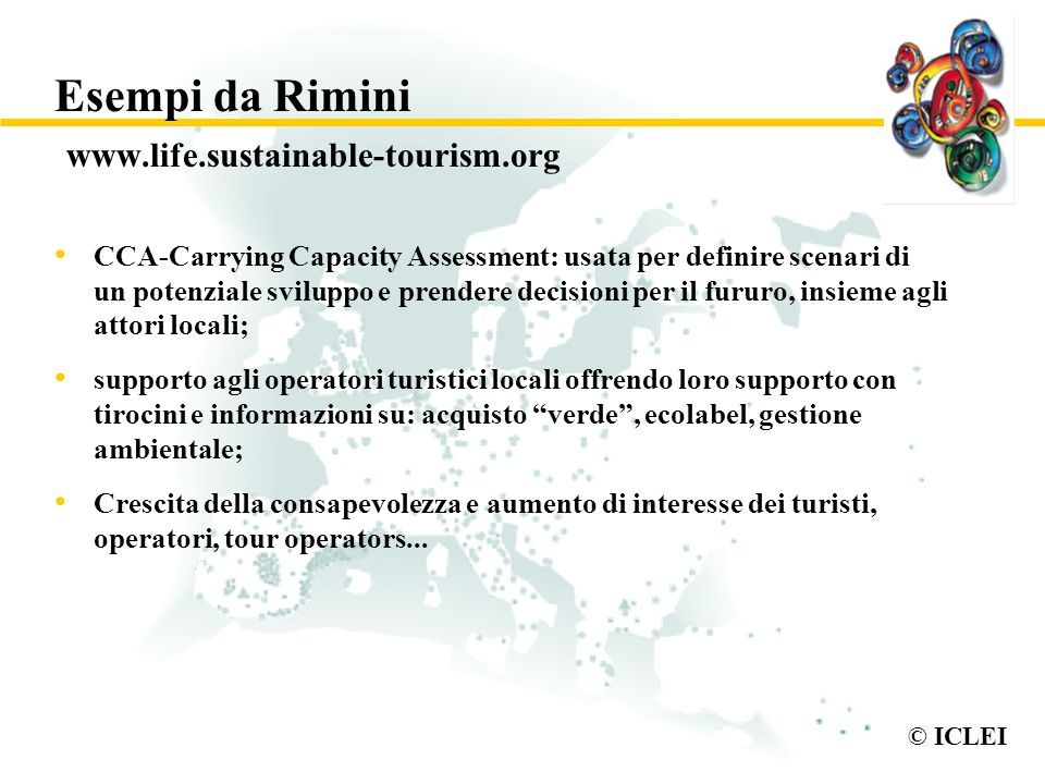 Esempi da Rimini www.life.sustainable-tourism.org