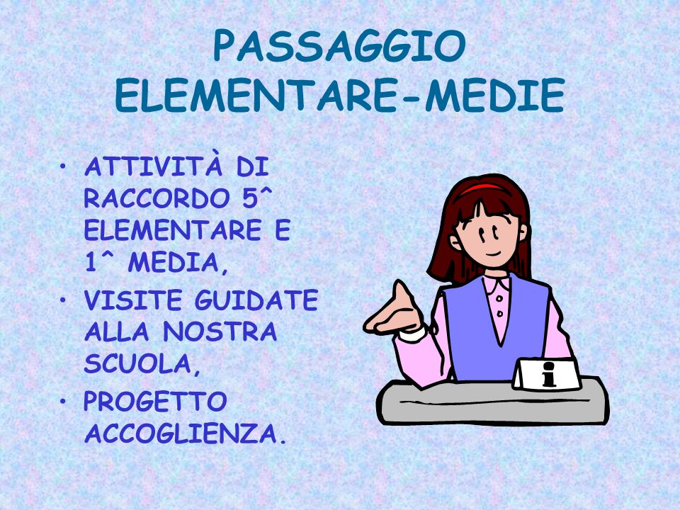PASSAGGIO ELEMENTARE-MEDIE