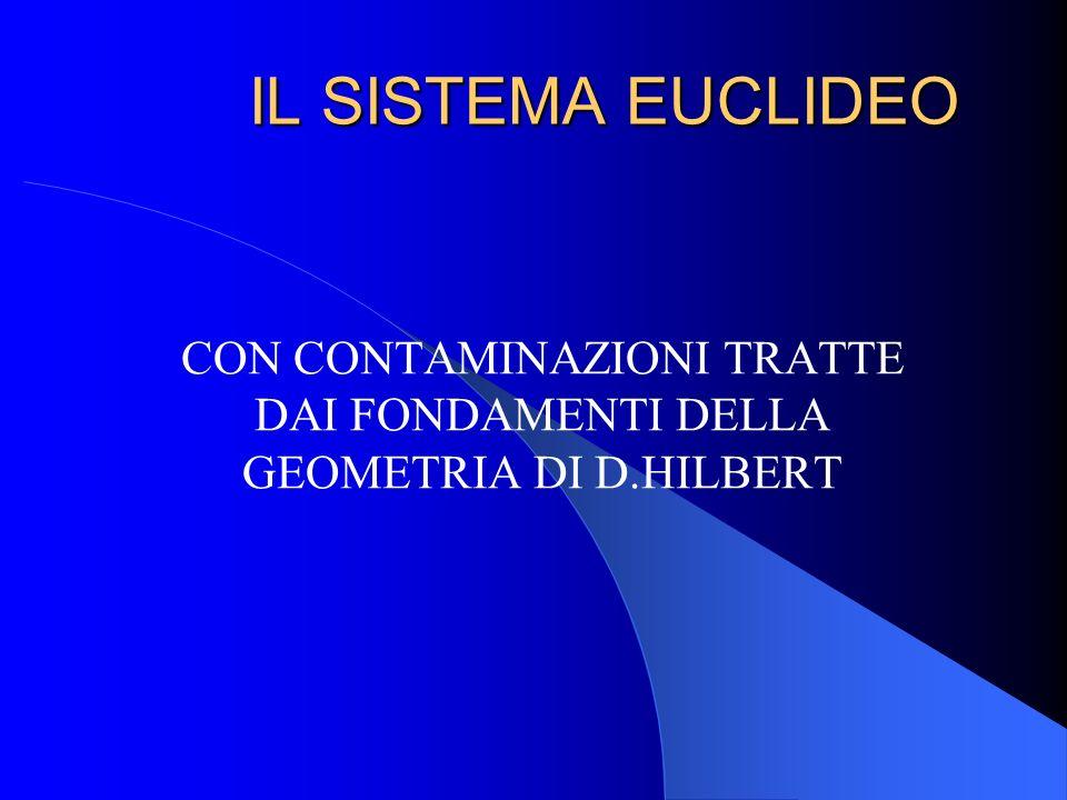 CON CONTAMINAZIONI TRATTE DAI FONDAMENTI DELLA GEOMETRIA DI D.HILBERT