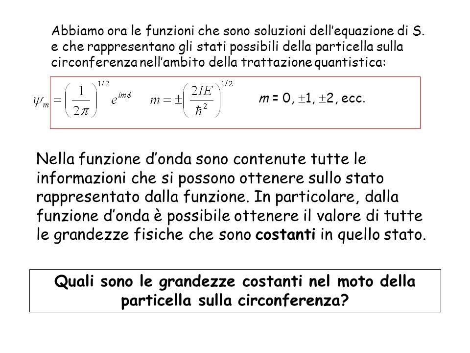 Abbiamo ora le funzioni che sono soluzioni dell'equazione di S