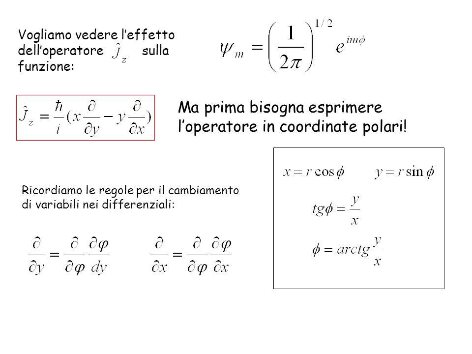 Ma prima bisogna esprimere l'operatore in coordinate polari!