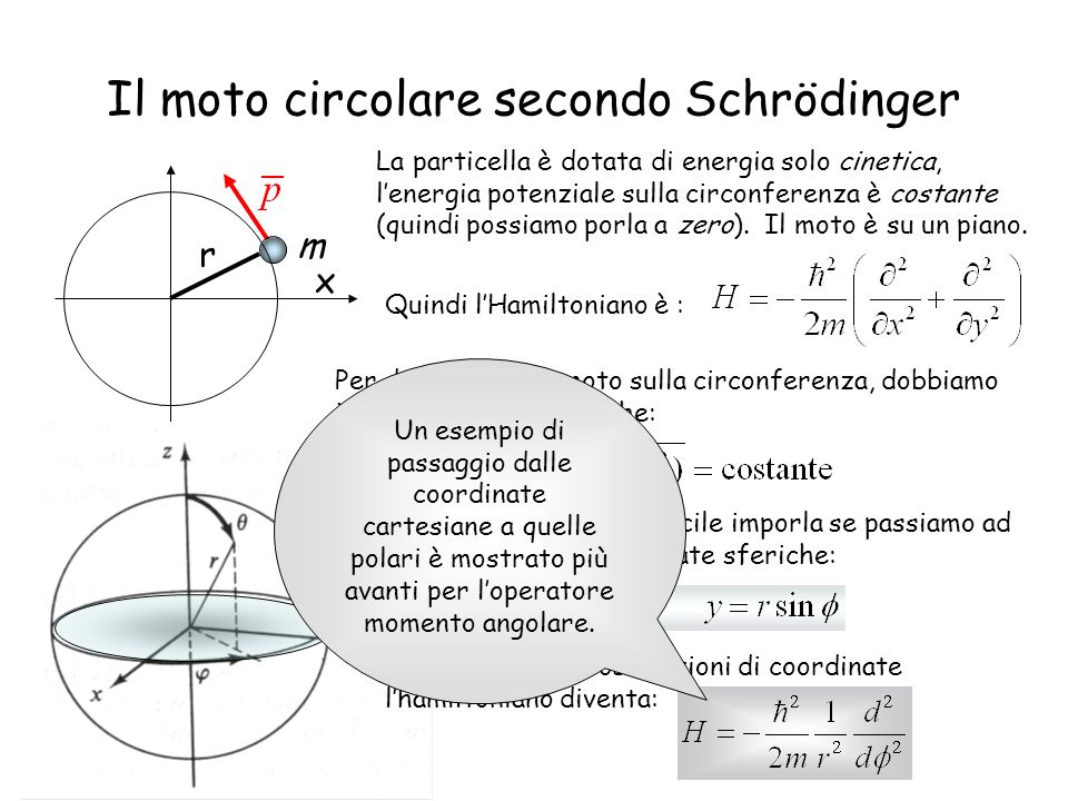 Il moto circolare secondo Schrödinger