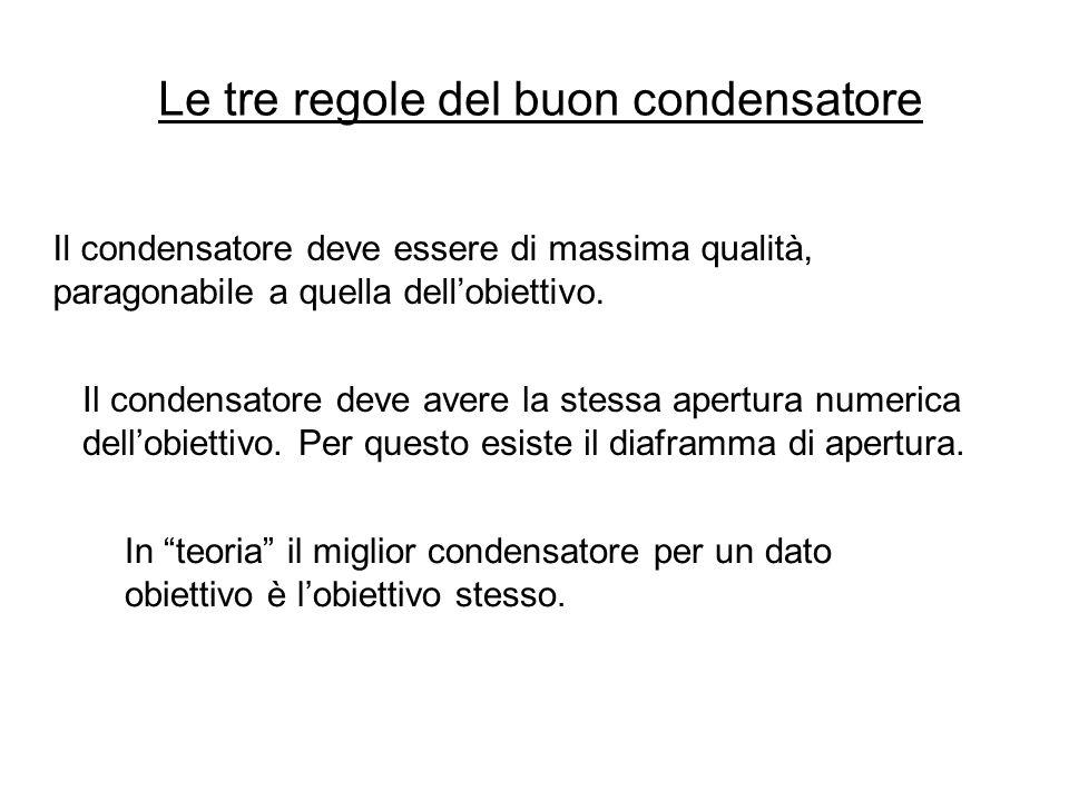 Le tre regole del buon condensatore