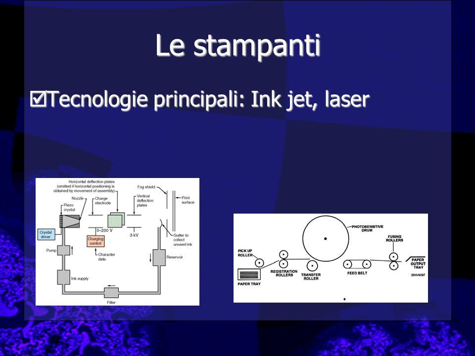 Le stampanti Tecnologie principali: Ink jet, laser