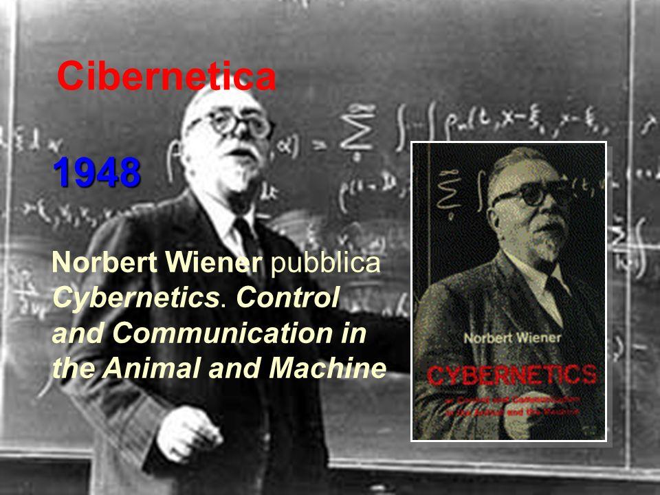 Cibernetica 1948 Norbert Wiener pubblica