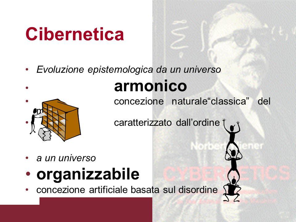 Cibernetica organizzabile Evoluzione epistemologica da un universo