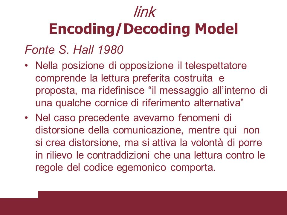 link Encoding/Decoding Model