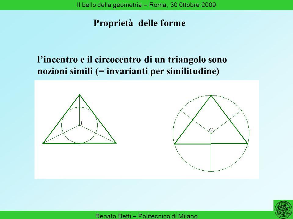 l'incentro e il circocentro di un triangolo sono