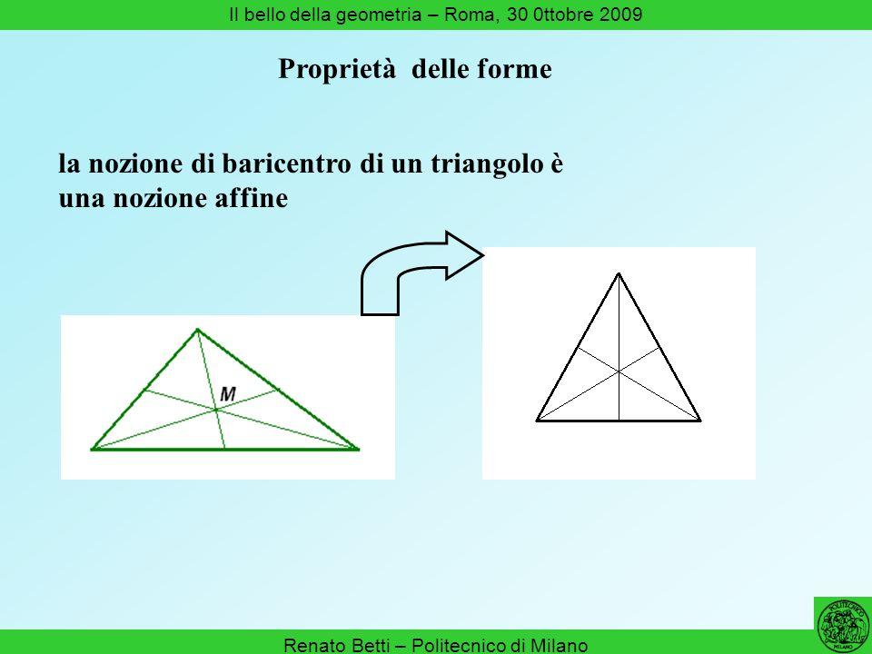 la nozione di baricentro di un triangolo è una nozione affine
