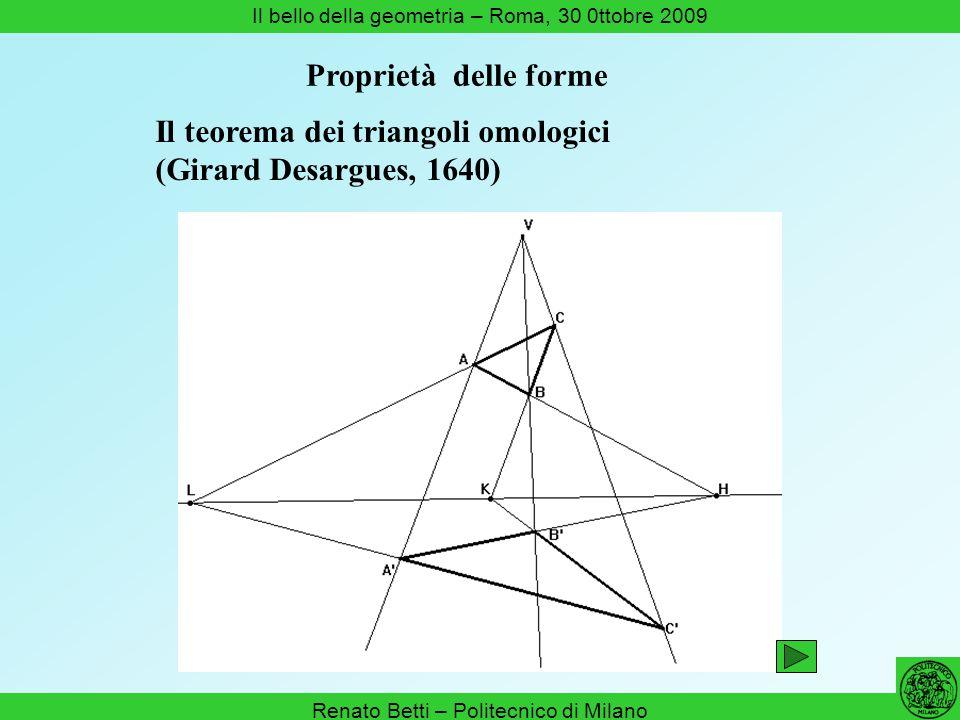 Il teorema dei triangoli omologici (Girard Desargues, 1640)