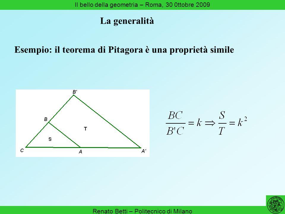 Esempio: il teorema di Pitagora è una proprietà simile