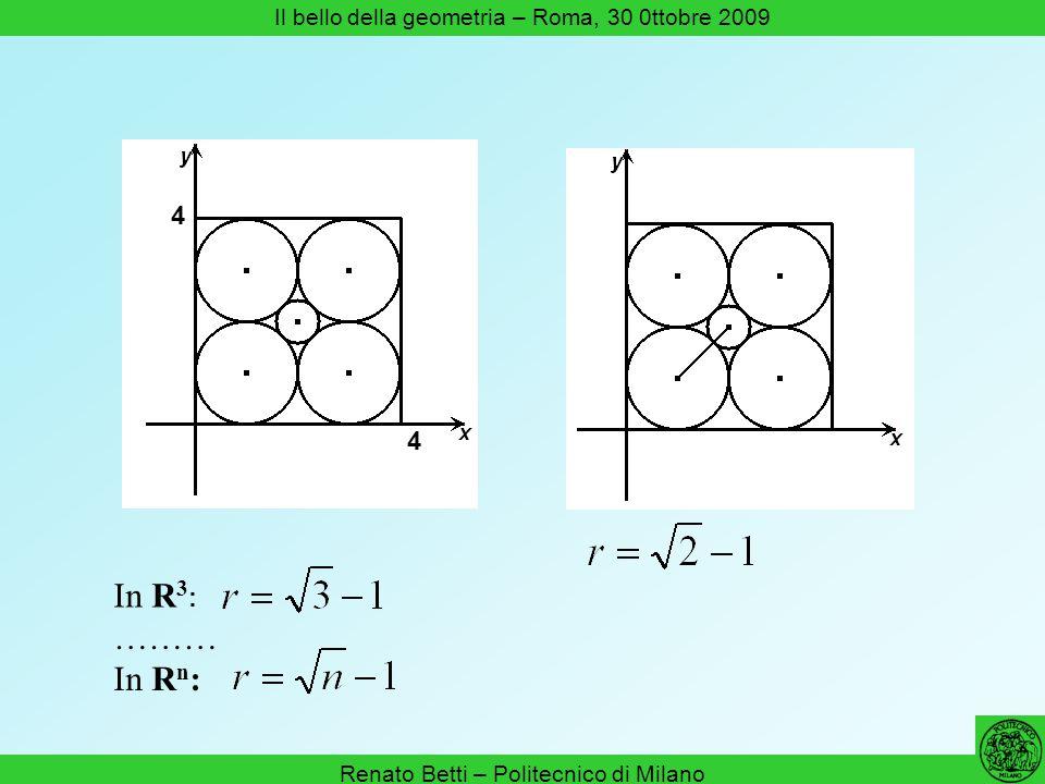 In R3: ……… In Rn: 4 Il bello della geometria – Roma, 30 0ttobre 2009