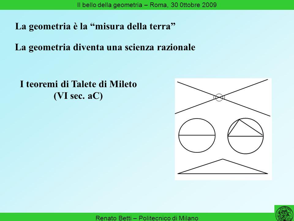 I teoremi di Talete di Mileto