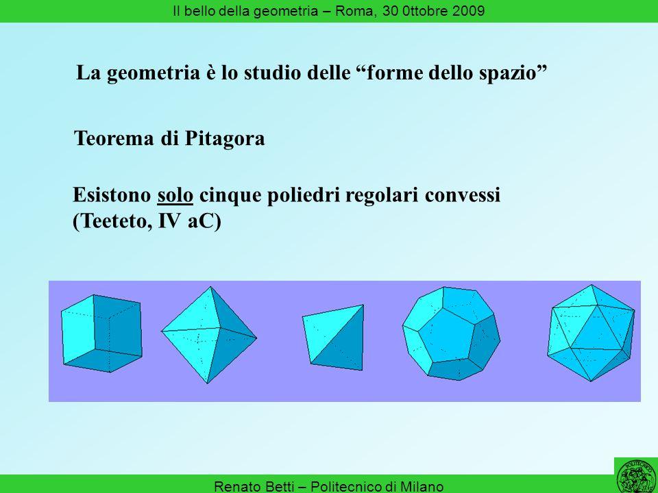 La geometria è lo studio delle forme dello spazio