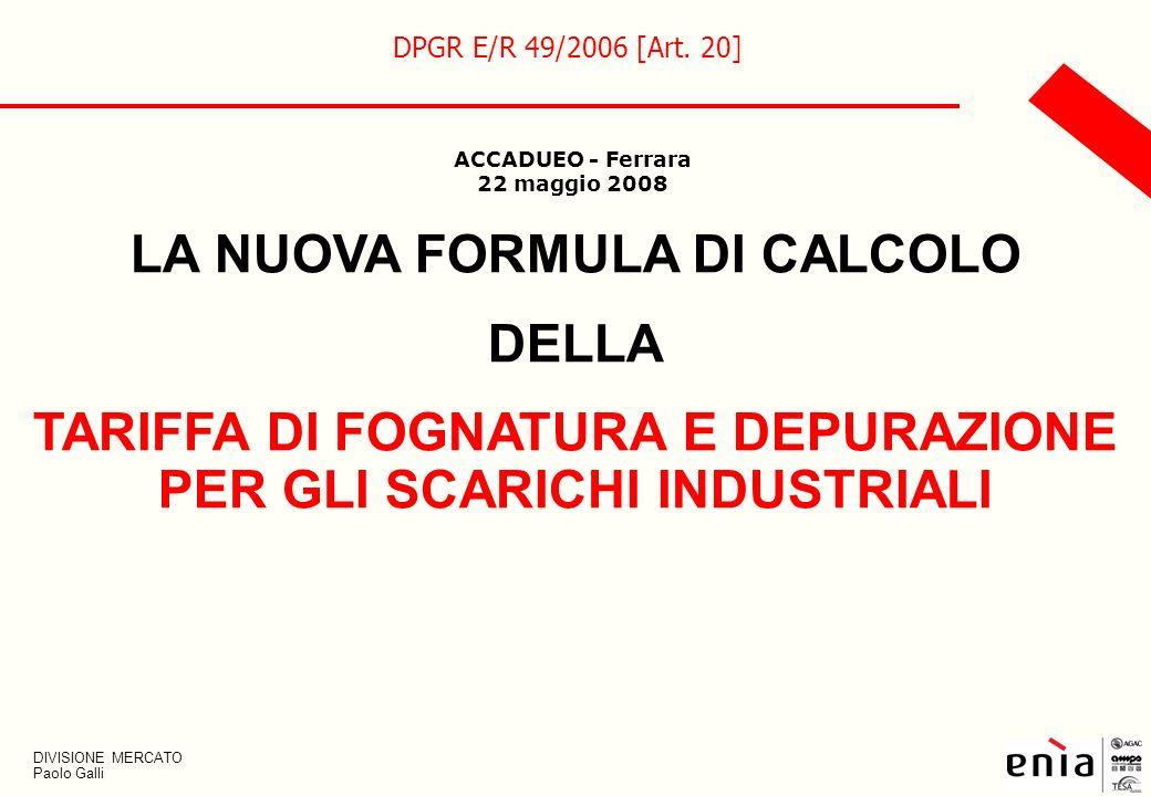 LA NUOVA FORMULA DI CALCOLO DELLA