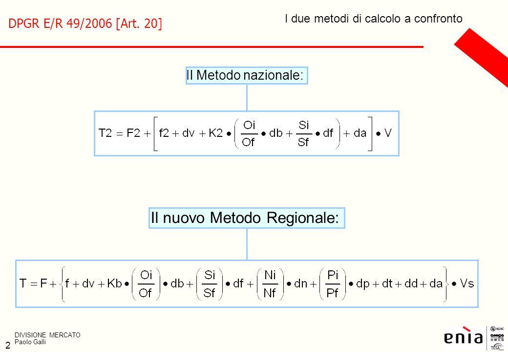 Il nuovo Metodo Regionale: