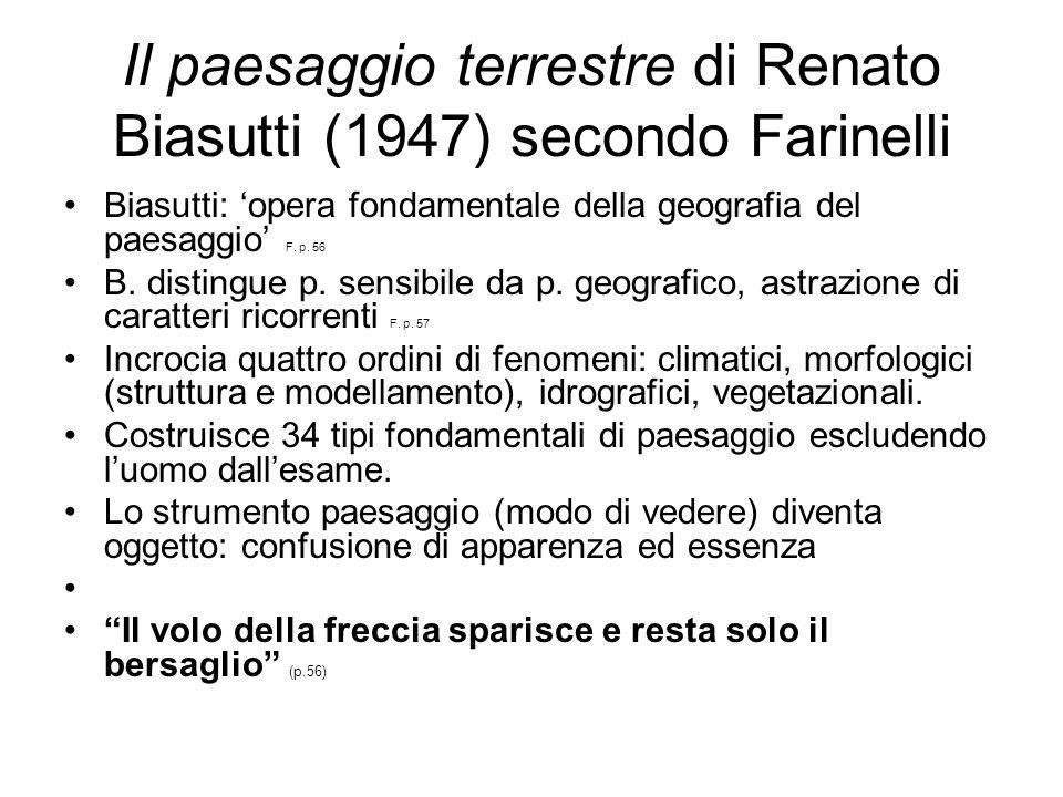 Il paesaggio terrestre di Renato Biasutti (1947) secondo Farinelli
